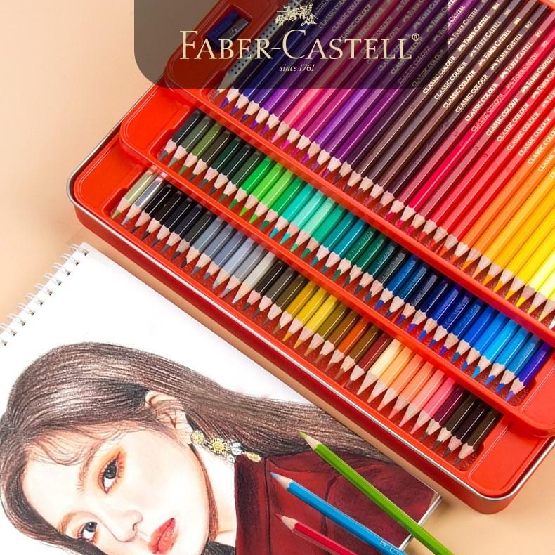파버카스텔 Faber Castell 유성색연필 100색 초보 미술 회화 레드틴케이스