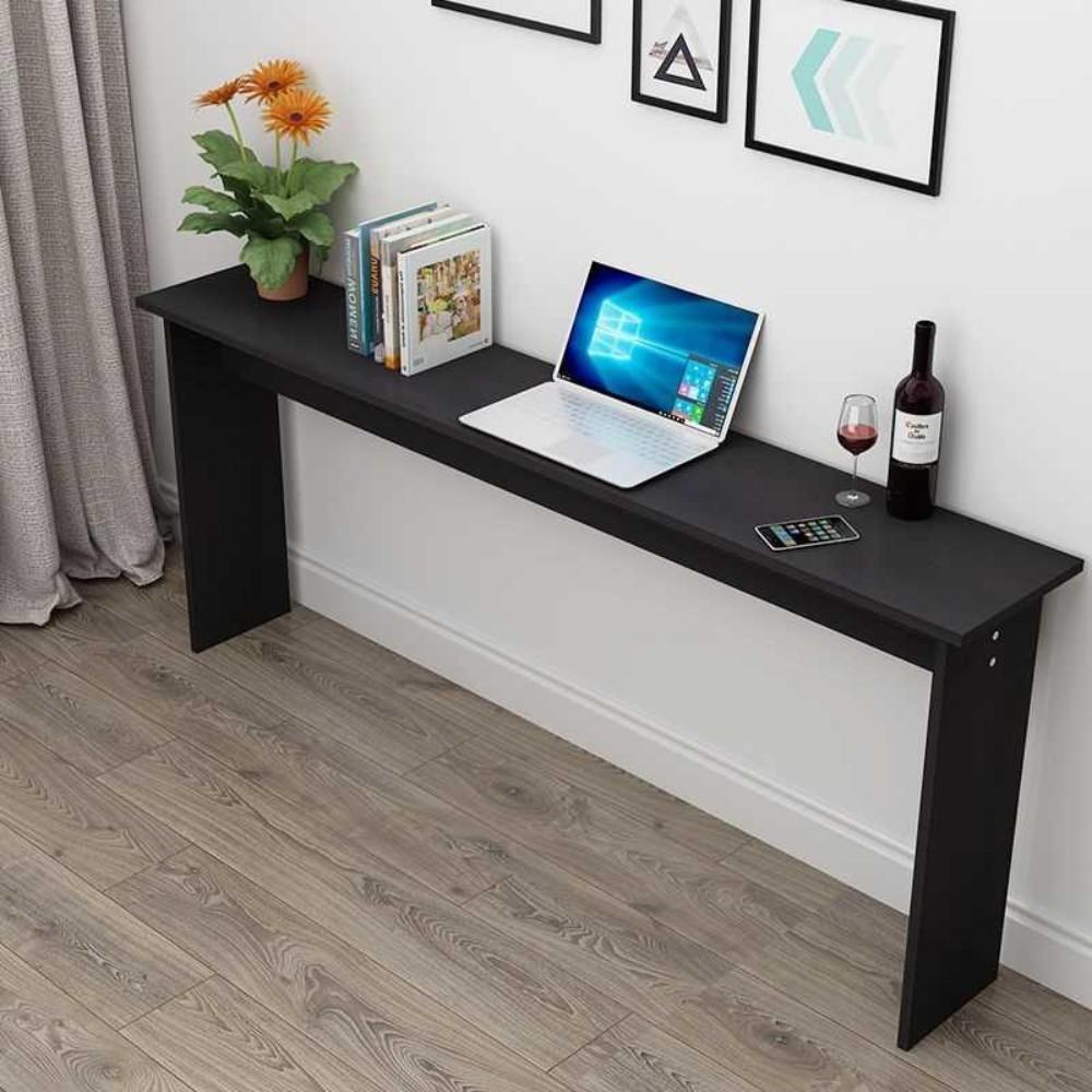 폭 좁은 테이블 쇼파 뒤 긴 슬림 보조 틈새 테이블 책상, 길이60X폭20X높이75(블랙)