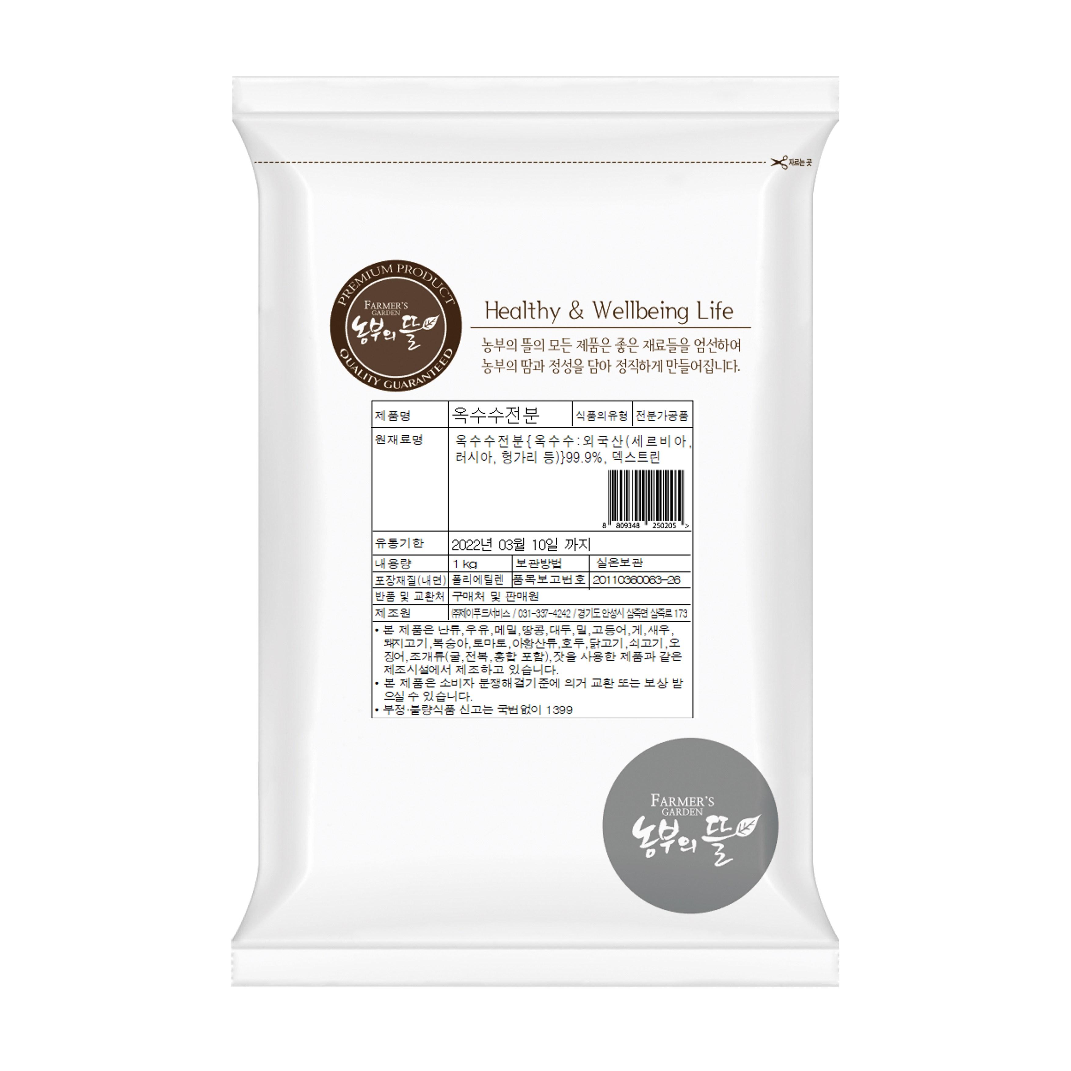 농부의뜰 옥수수전분 1kg, 1개