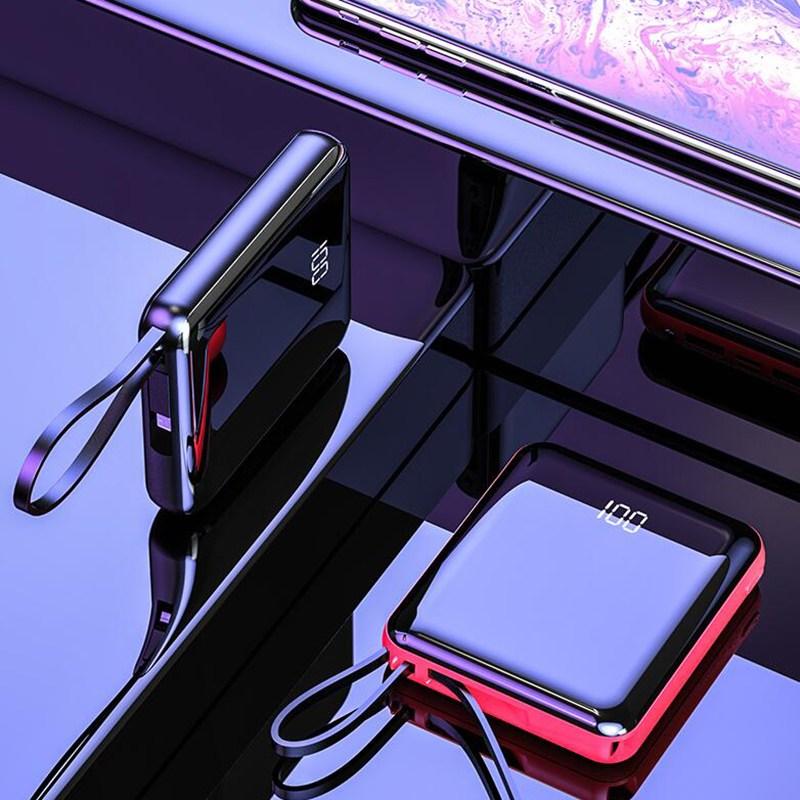 Dream 멀티 대용량 보조베터리 휴대용 고속신상품 20000mAhKS1932, 블랙, 20000mAh