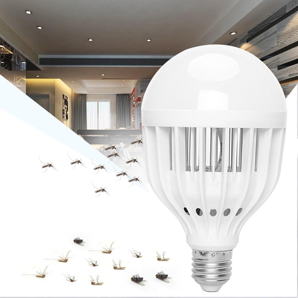 Itimo e27 빛 깨끗한 브러시 led 전구 곤충 비행 유치 킬러 슈퍼 밝은 모기 램프 ac 90 ~ 265 v 10 w, 1개, 단일