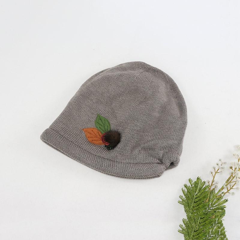 로즈 밍크털 자수 겨울 여성 두건 모자