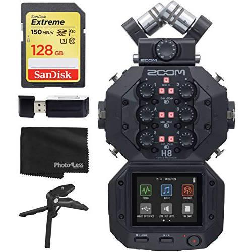 Zoom H8 Eight Track 핸디 레코더 Podcasting 음악 필드 레코딩+ 128GB 메, 상세내용참조