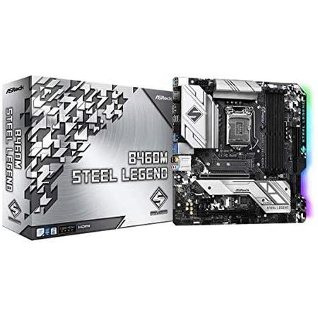 메인보드 ASROCK B460M Steel Legend Supports 10th Gen Intel Core Processors(Socket 1200) Motherboard, 상세 설명 참조0