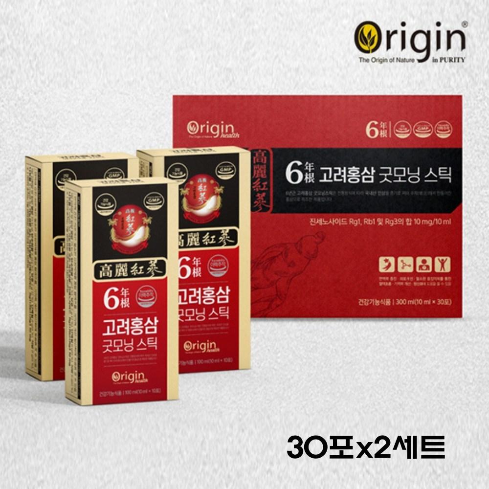 고려 홍삼정 6년근 홍삼 농축액 진액 엑기스 고함량 진세노사이드 rg1 rb1 rg3 수험생 직장인 부모님 건강 추석 명절 선물세트 Korean ginseng, 60포, 10ml