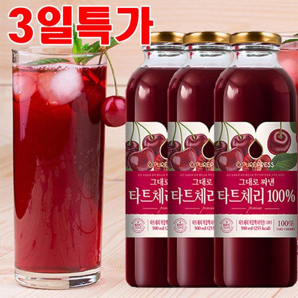 타트체리 100%NFC착즙 몽모랑시 500ml 3병 5병 10병 원액 주스 쥬스