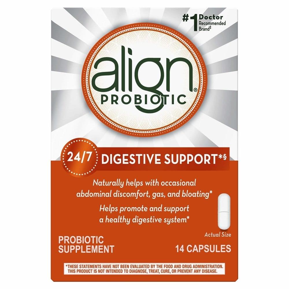 Align 프로바이오틱스 소화효소 영양제 14캡슐, 1개, 14정