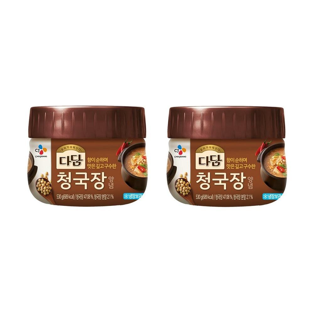다담 CJ 청국장양념 530gX2개 (무료배송), 2개