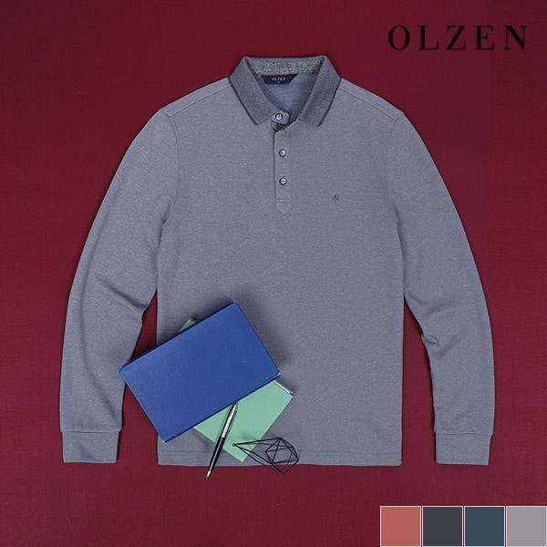 올젠 올젠 카라 베이직 긴팔 티셔츠 (ZAX3TT1101)