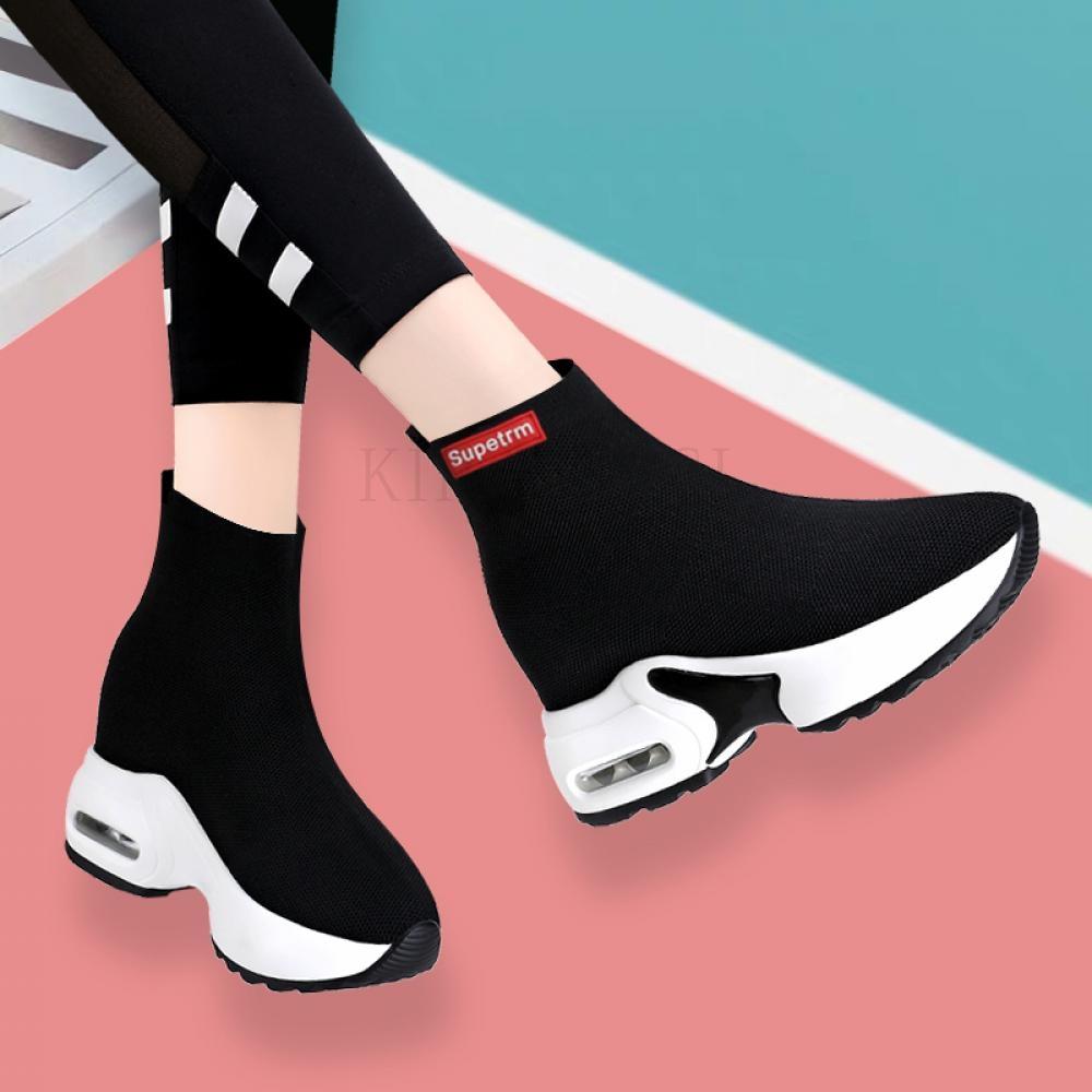 kirahosi 하이탑 삭스스니커즈 슈즈 발편한 신발 운동화 126호+덧신증정 DA5i7njt