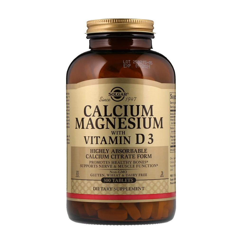 솔가 Solgar 칼슘 마그네슘 비타민 D3 함유 300 1개 상품상세참조