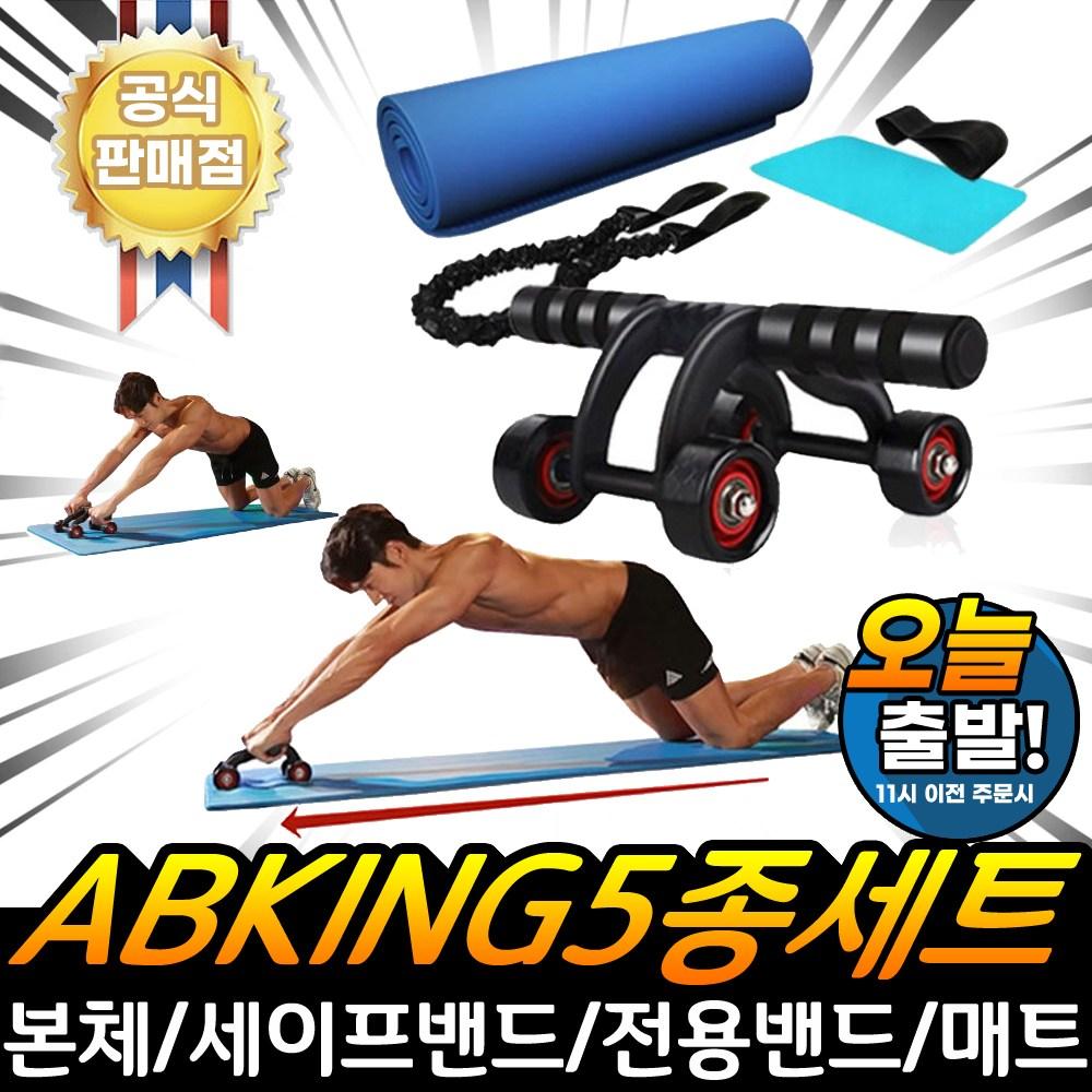 AB킹 홈트레이닝 근력강화 운동기구 5종세트 전신운동 AB슬라이드 복근 뱃살 코어, NEW_AB킹 복근근력강화 운동기구 5종세트