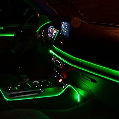 NEW 앰비언트 무드등 신형 EL와이어 광섬유 실내등 LED 무소음, 그린2M세트