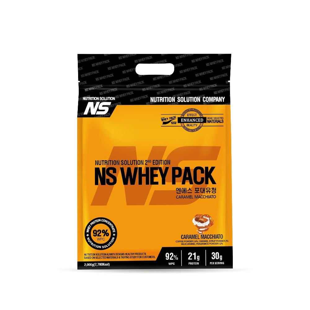 뉴트리션스토어 NS 포대유청 WPC 카라멜마끼아또 유청단백질가루 단백질쉐이크 프로틴, 1팩, 2kg