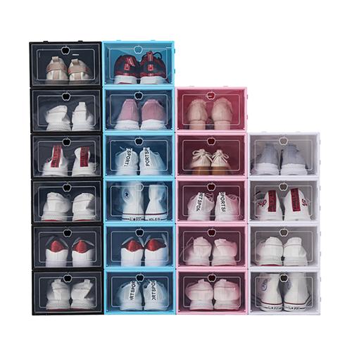리빙톡 조립식 투명 신발정리함 12개 1세트 33x23x14.5cm 신발정리대, 12개입