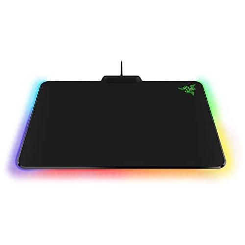 마우스패드 Razer Firefly Hard V2 RGB Gaming Mouse Pad Customizable Chroma Lighting - Built-in Cable Management - Balanced Control & Speed - Non-Slip R, 본문참고, Size = Mouse Pad | Style = Firefly v2 | Color = Hard