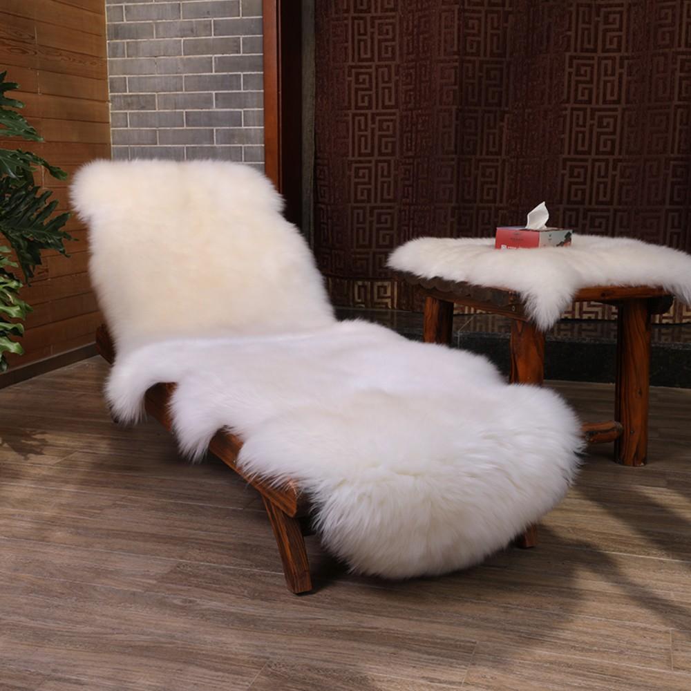 안마의자 리클라이너 울 커버 러그 카펫 시트 담요 쿠션 고급 인테리어, 내츄럴 (POP 5295627795)