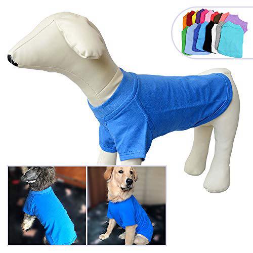 2018 애완 동물 의류 중형 중형견을위한 개 옷 비어있는 티셔츠 티셔츠 100 % 코튼 개 티즈 클래식 (XXXL 블루) 2018 Pet Clothing Dog Clothes, 1set