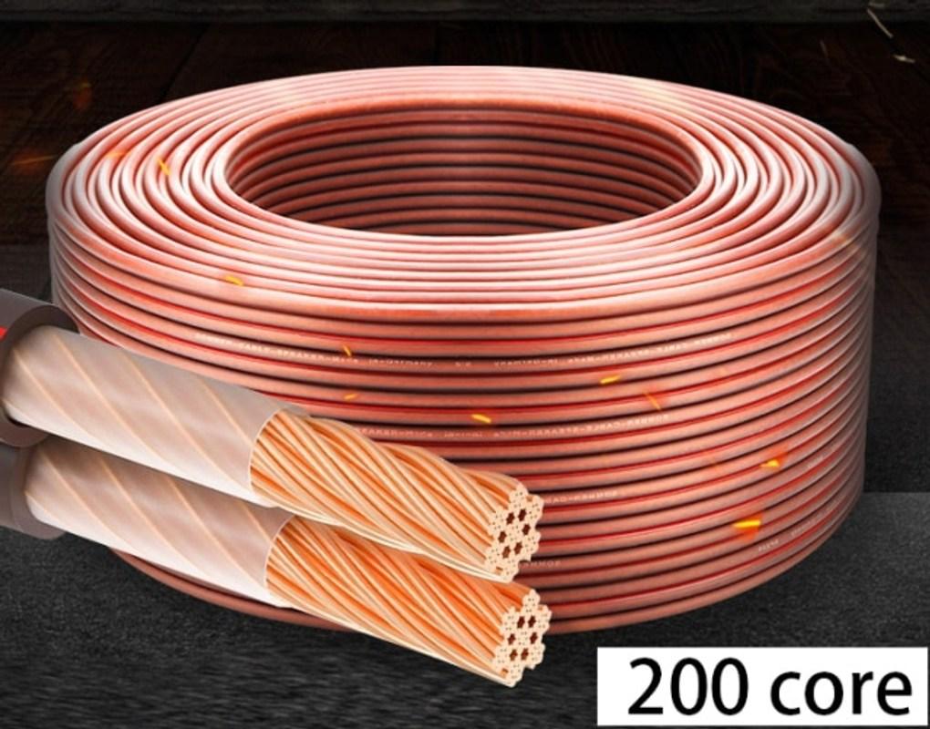 HUALIWEN DIY HIFI 오디오 케이블 자동차 오디오 홈 시어터 오디오 와이어 소프트 터치 케이블 용 산소 무료 순수 구리 스피커 케이블 472, 200 코어, 50m (POP 5756745718)