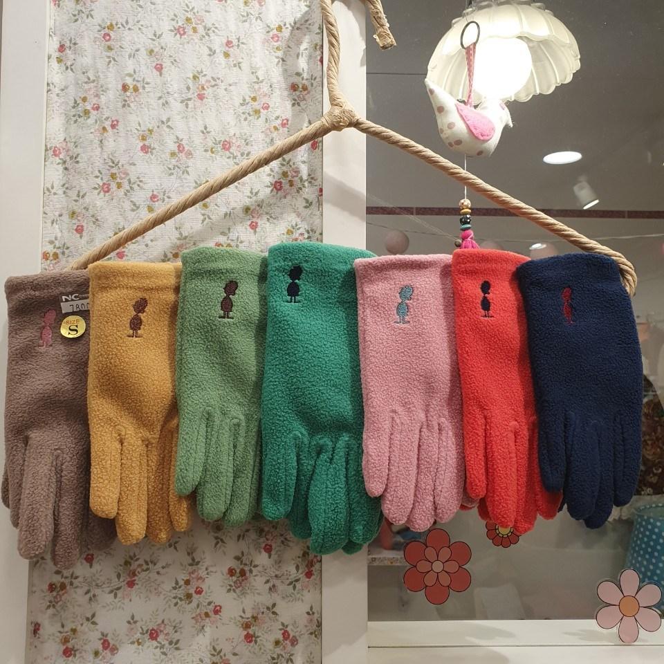 [아동/마리하우스]짱~~귀여운 마리 브랜드 로고에 예쁜 컬러감의 따뜻한 아동 손가락 장갑