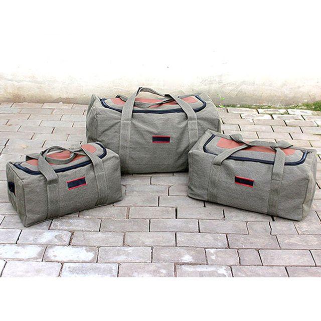 감성캠핑용품 소품등 캔버스 캠핑 여행 대용량 가방(대형)-QJL710D15