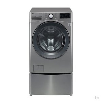 [LG] 트롬 트윈워시 세탁기 18kg 모던 스테인리스 (F18VDPM)