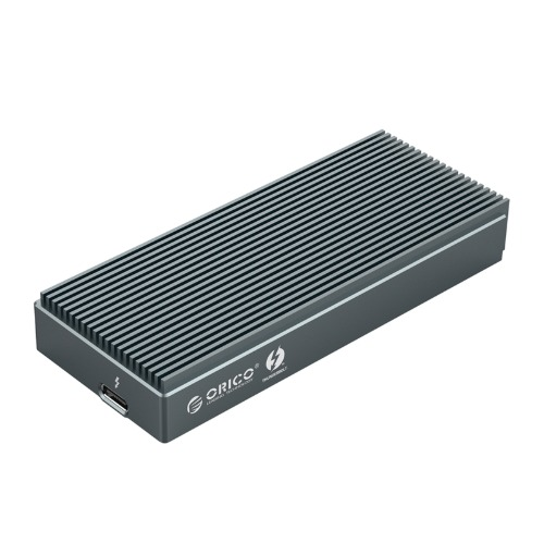 오리코 SCM2T3-G40 외장하드케이스 C타입 썬더볼트3 M.2 SSD케이스(NVMe) Thunderbolt3(40Gbps), 그레이 (POP 5643385007)