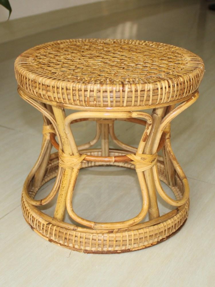 라탄 스툴 둥근 의자, 대형1 높이 37cmx35cm