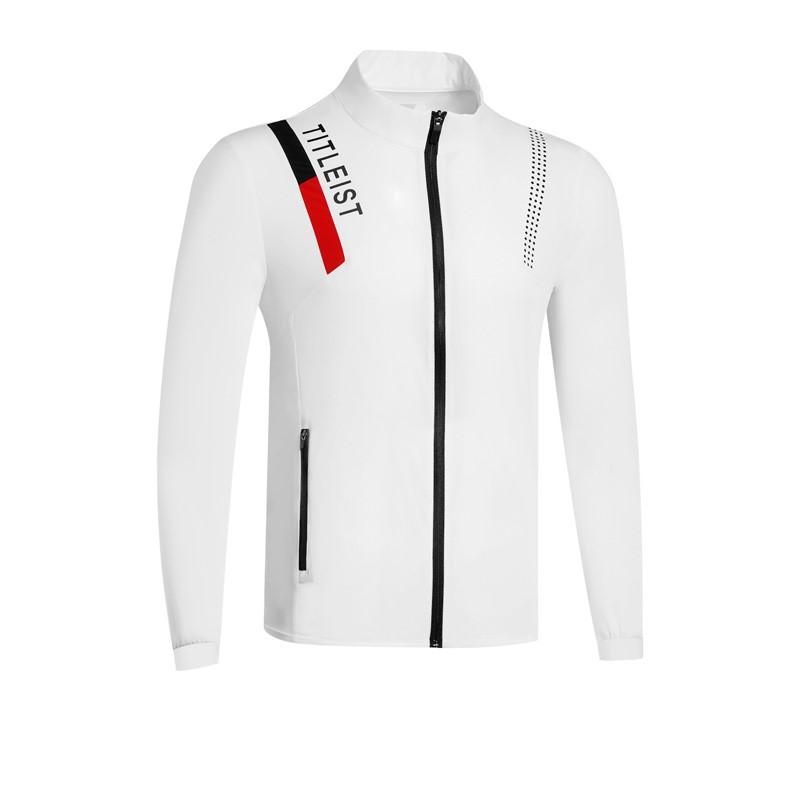 타이틀리스트 남성골프웨어 가을 의류 남성 캐쥬얼 바람막이 집업 자켓, 하얀
