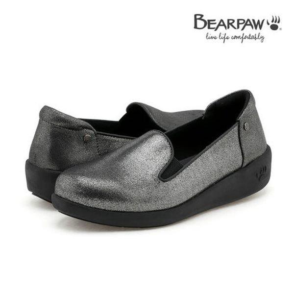 [갤러리아] 베어파우베어파우(BEARPAW) 여성화 경량 키높이 단화슬립온 COZY WALK 2 metallic gray (K3601005MA-W)