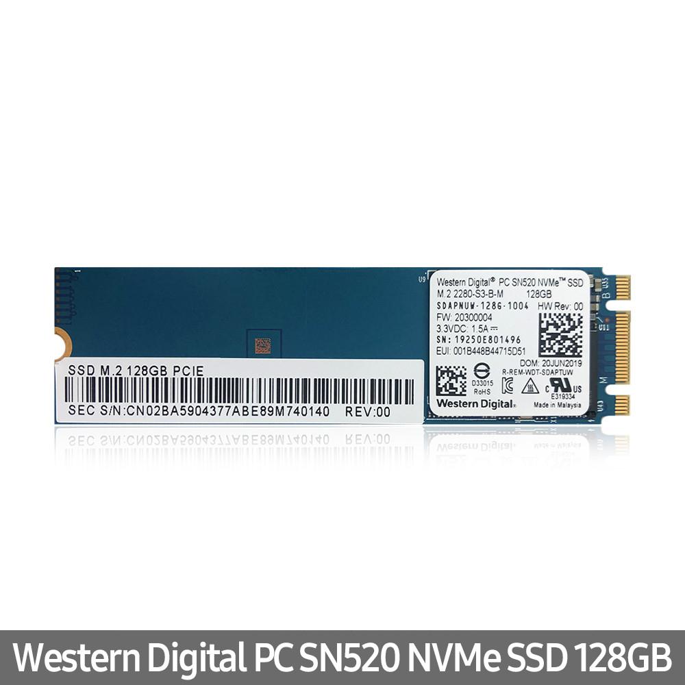WD 웨스턴 디지털 SN520 M2 NVMe 128GB 벌크 노트북용 PC용, WD M2 NVMe 128GB