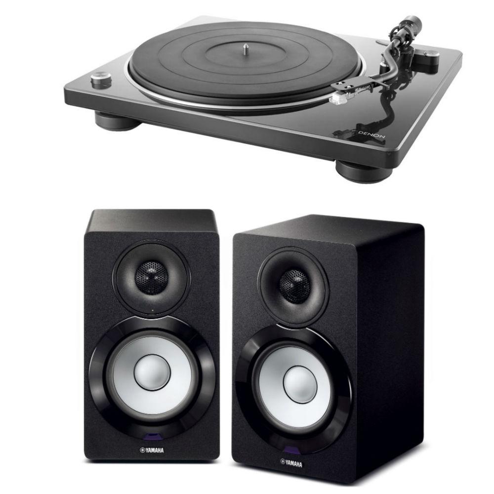 데논 DP-400 턴테이블 + 야마하 NX-N500 액티브 스피커패키지, 블랙:화이트