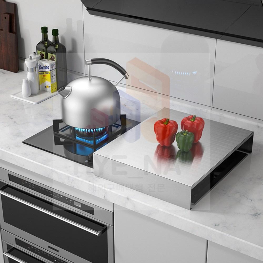 스테인리스 레인지 덮개 스텐 스틸 가스렌지인덕션 커버 가림막, 가로 35 X 세로 45 X 높이 7 (cm) 두께 1mm