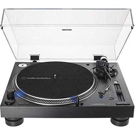 Audio-Technica AT-LP140XP-BK 다이렉트 드라이브 프로페셔널 DJ 턴테이블 블랙 Hi-Fi 완전 수동 3단, Black_One Size, Black, 상세 설명 참조0