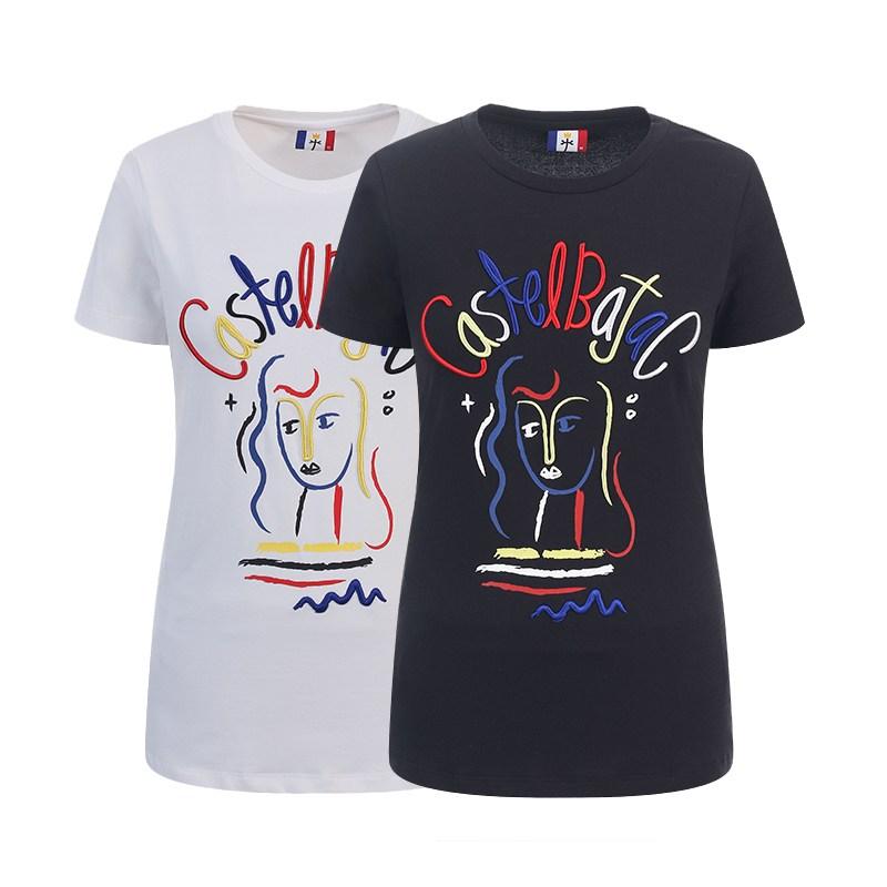 까스텔바작 로고프린팅 골프웨어 티셔츠 BG9MTS716 화이트