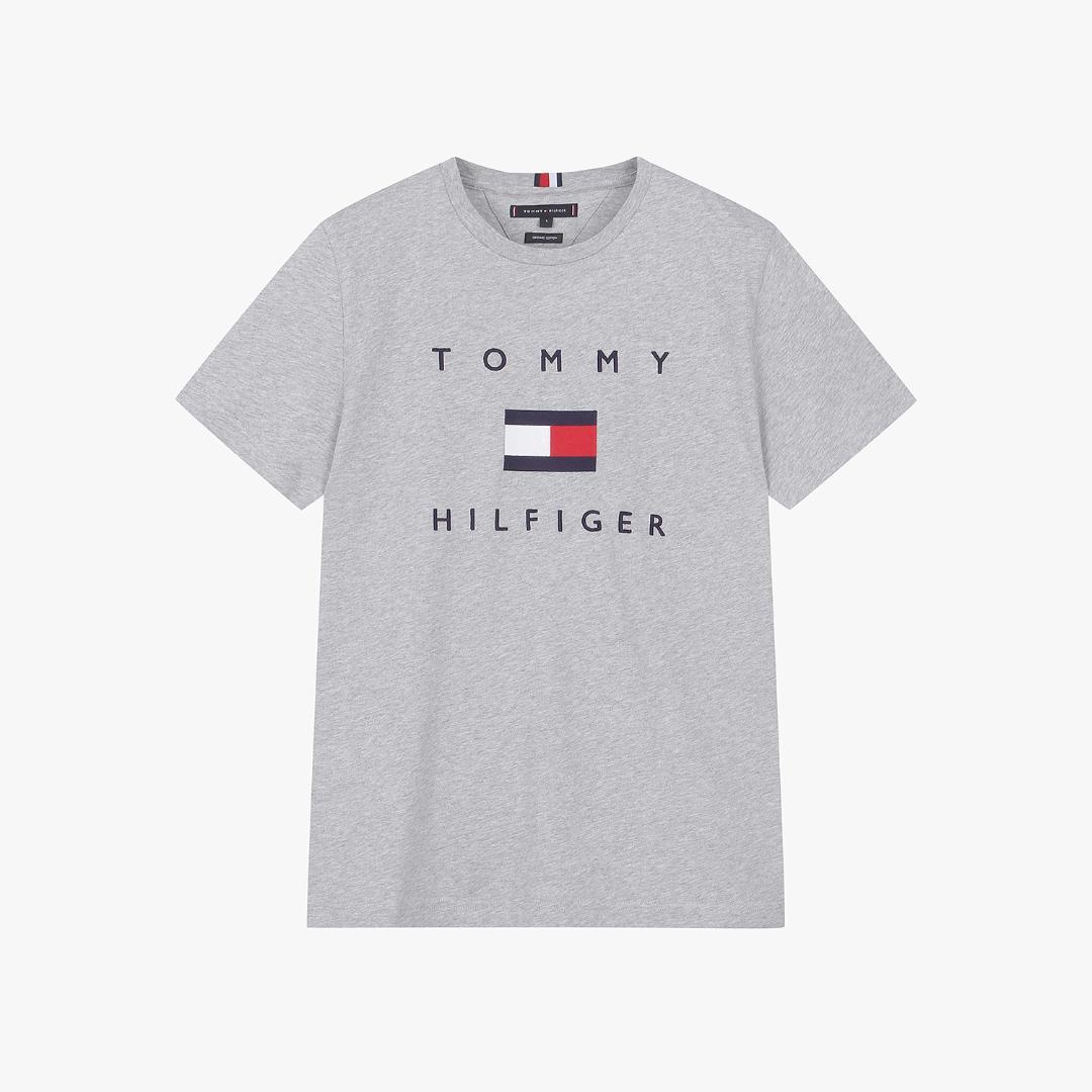 타미힐피거 [남성] 코튼 레귤러핏 플래그 티셔츠 T12A6TPO080MT1 PG5