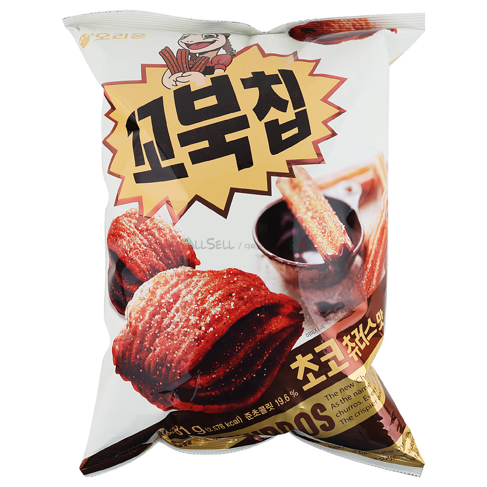 오리온 꼬북칩 481g 대용량 초코츄러스맛