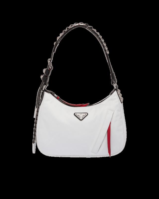 Prada Black nylon hobo bag with leather and studs 1BC087_2BYB_F082K_V_TBO