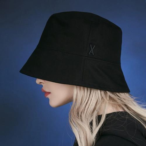 바잘 [바잘 모자 벙거지] 스터드 드롭 오버핏 버킷햇 블랙