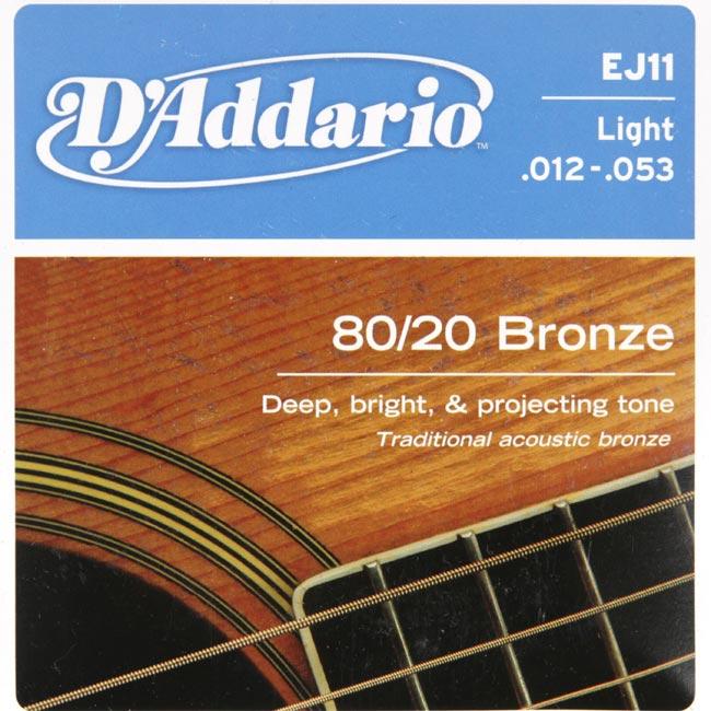 Daddario 80/20 Bronze EJ11 (012-053) 다다리오 통기타줄