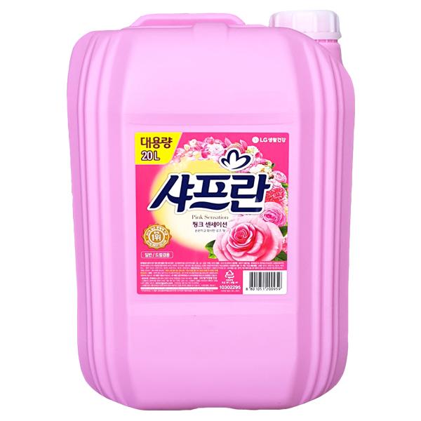 샤프란 대용량 20리터 핑크 일반 섬유유연제, 1개, 20L