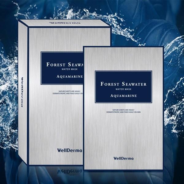 웰더마 포레스트 씨워터 마스크팩 5매/바이오셀룰로오스 시트 초밀착, 단일상품