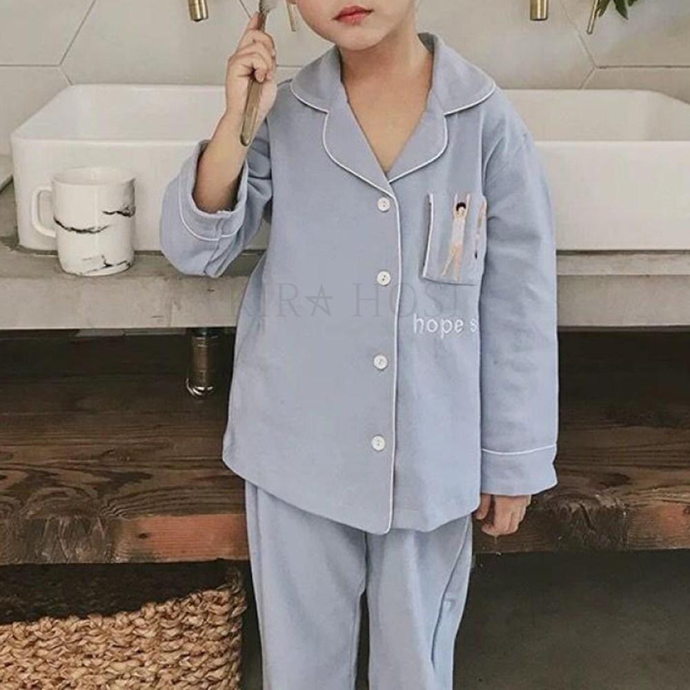 kirahosi 아동 파자마 남아 잠옷 주니어 초등학생 긴팔 데일리 257호+덧신증정 AEzv8h19