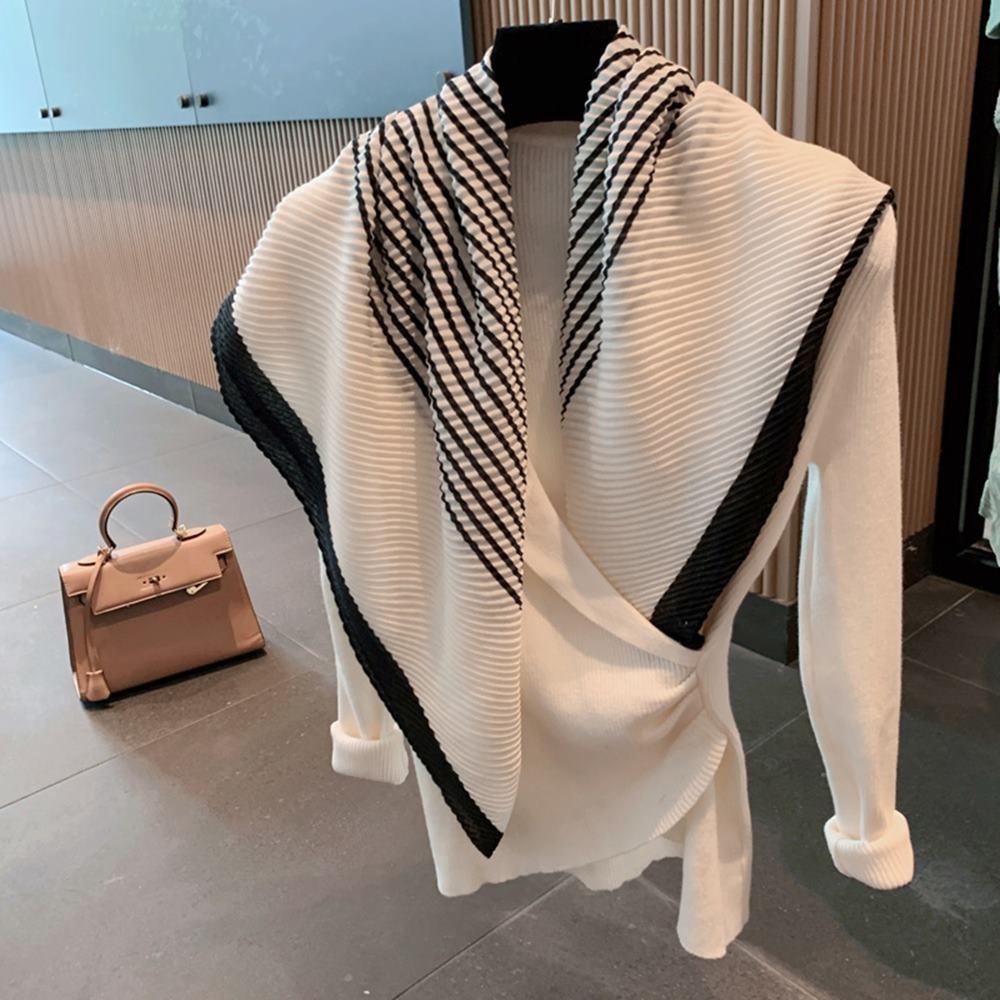 브랜드 여성 스트라이프 토템 숄카라 머플러 가을 겨울 명품 트윌리 스카프