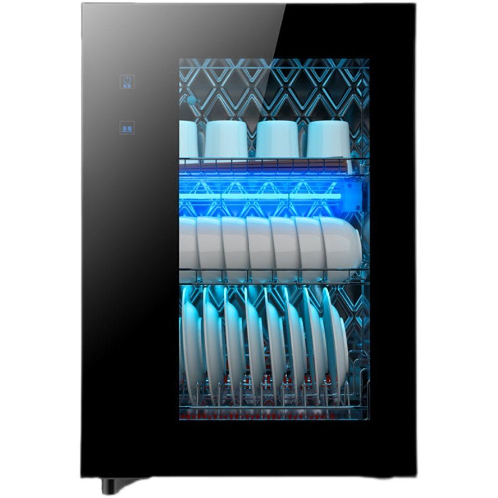 210L 양문형 대용량 식기 건조기 살균 UV 주방 신혼, 블랙 128L 4단 UV오존+열풍건조