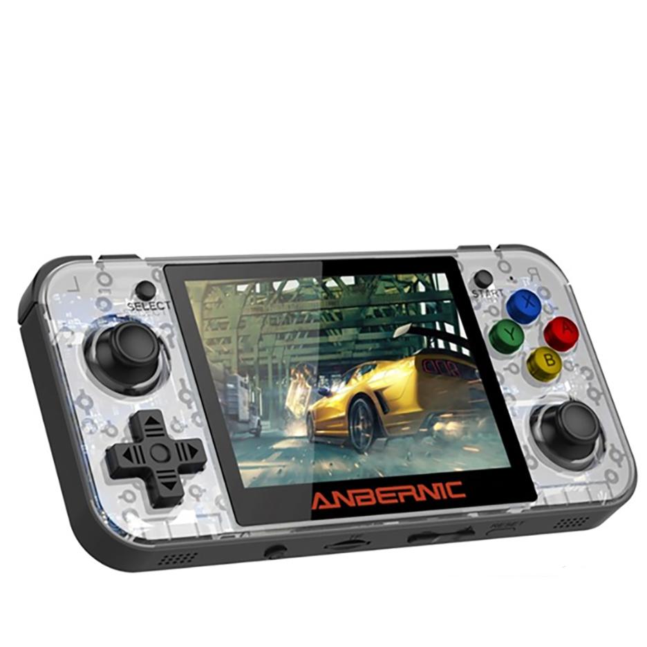 [재고 보유] RG350 최신 게임보이 레트로 미니게임기 /3D게임 다운 플레이가능, 그레이