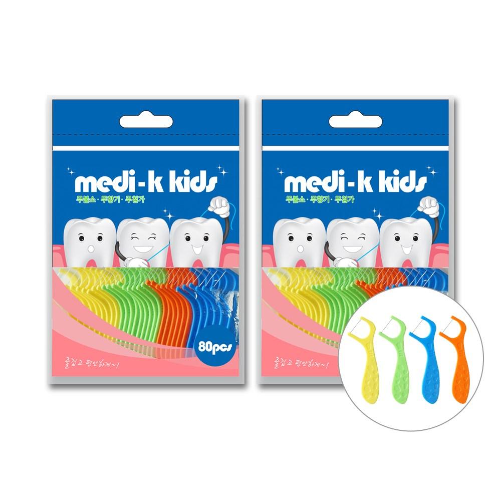 메디케이 유아용 치실 80p x 2 총160p, 2개, 80개입