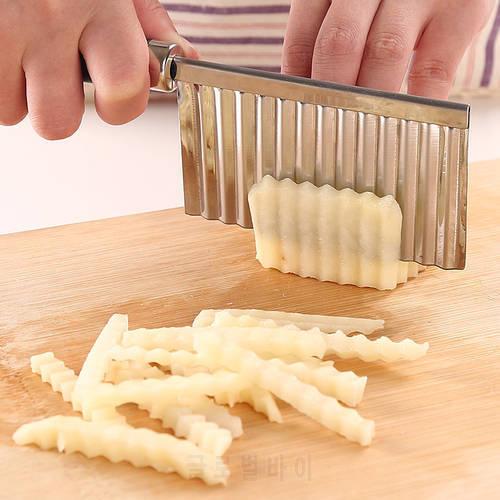JINJIAN 스테인레스 스틸 감자 물결 모양의 커터 나이프 감자 칩 제조기 야