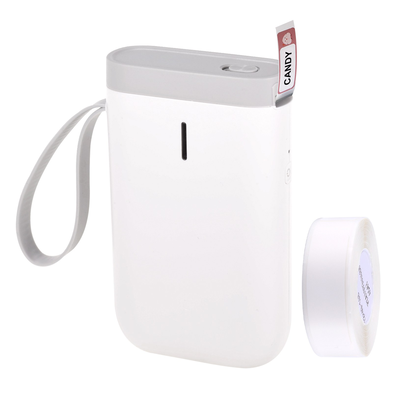 JINGCHEN 휴대용 라벨프린터 블루투스 미니  D11 라벨지1롤 증정, D11화이트 (POP 1262525631)
