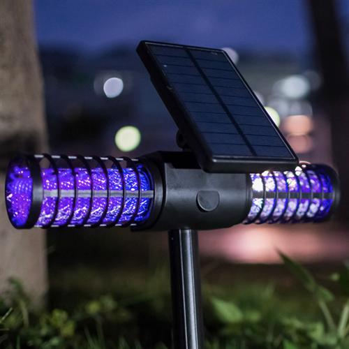 실내 실외겸용 태양열 충전식 모기퇴치기A3 KC인증정품 USB충전겸용 야외용 정원용 모기 초파리 박멸, A3-블랙